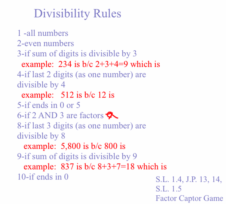 Unit 1 Mrs Sartain and Mrs Boutt s 5th Grade – Divisibility Test Worksheet